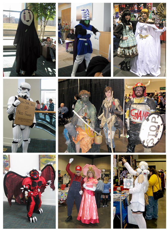 Montage of photos from NakaKon 2012