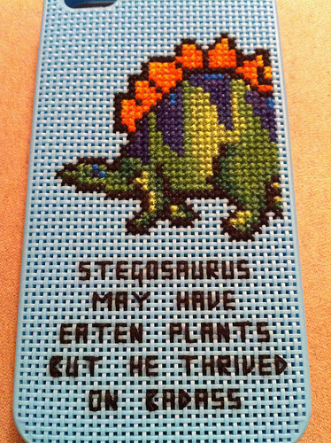 Badass Stegosaurus Cross Stitch