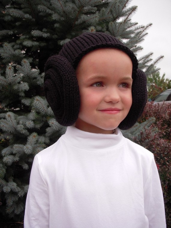 Knit Princess Leia Bun Hat,