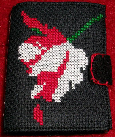 Cross-stitched New Moon Needle Book